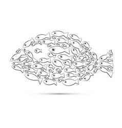 Fish Shaped Abstract Fish vector image
