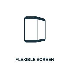 Flexible screen icon premium style design from vector
