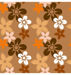 floral silhouettes pattern brown vector image