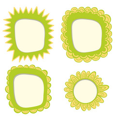 frame template with green color vector image