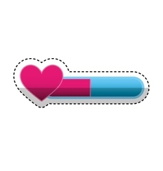 Game heart isolated icon vector
