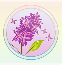 Game icon with lilac flower vector