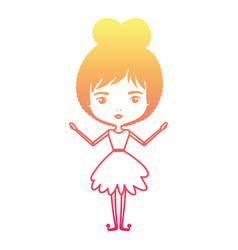 girly fairy without wings and collected hair in vector image