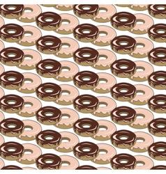 Glazed donuts pattern vector image