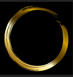 Gold brush circle vector