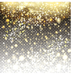 golden and silver glitter particles background vector image