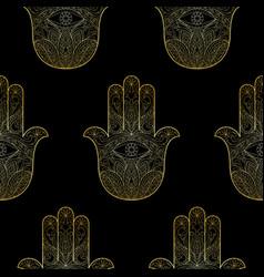 hand fatima seamless pattern vector image