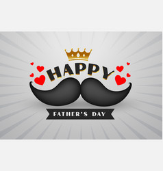 Happy fathers day hipster style background design vector