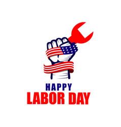 Happy labor day logo template design vector