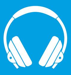 Headphone icon white vector