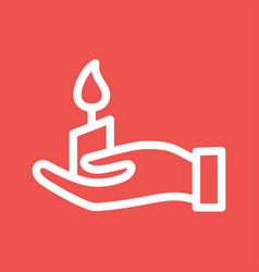 Holding candle vector