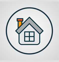 house icon colored line symbol premium quality vector image