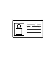 id card icon vector image