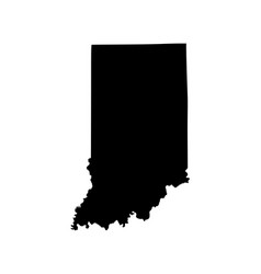 Indiana map silhouette isolated on white vector