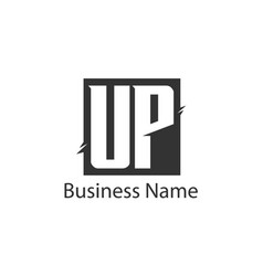 initial letter up logo template design vector image