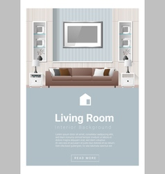 Interior design Modern living room banner 2 vector image