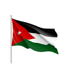 Jordan national flag realistic vector