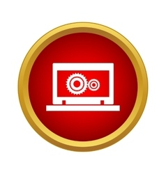Laptop Icon simple style vector image