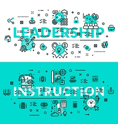 Leadership and Instruction heading title web vector