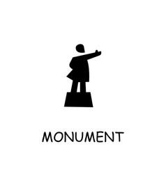 Lenin monument flat icon vector