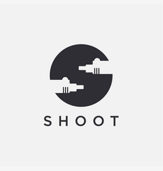 Letter s for shooting gun logo icon template vector