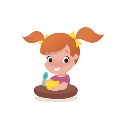 Little girl child vector