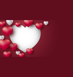 love concept design heart on red background vector image