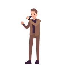 man singer vocalists musical performance boy vector image