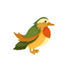 Mandarin Duck Realistic Childish vector image