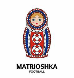 matrioshka or nesting doll isolated on white vector image