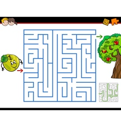 Maze activity task cartoon vector
