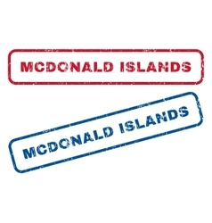 Mcdonald Islands Rubber Stamps vector
