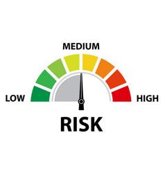 Medium risk speedometer concept presentation vector