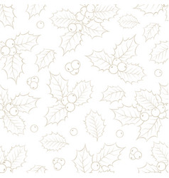 mistletoe seamless pattern for christmas theme vector image