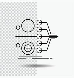 monetization finance money transfer value line vector image