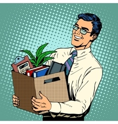 New job Manager recruited in the office vector