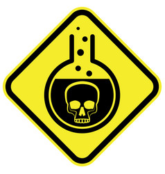 Poisonous chemical warning sign vector