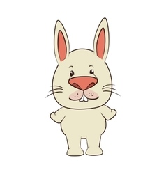 rabbit bunny animal cartoon vector image