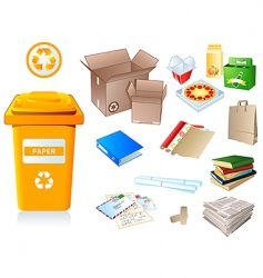 Recycle waste vector