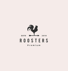 rooster logo arrow icon vector image