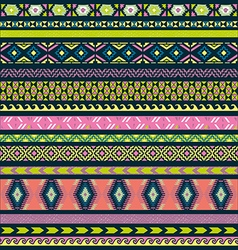 Seamless pattern tribal set vector image