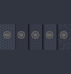 set of dark vintage seamless backgrounds for vector image