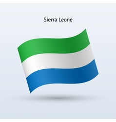 Sierra Leone flag waving form vector image