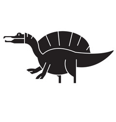 spinosaurus black concept icon spinosaurus vector image