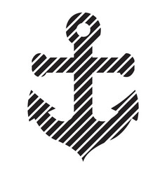 stripped anchor icon simple style vector image