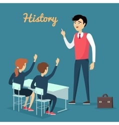 Subject of history education conceptual banner vector