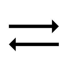 sync glyph black icon vector image
