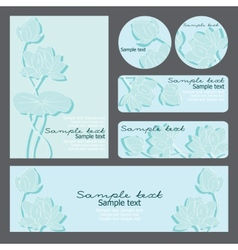 templates with floral pattern vector image