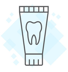 toothpaste tube thin line icon stomatology vector image