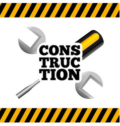under construction tools icon vector image